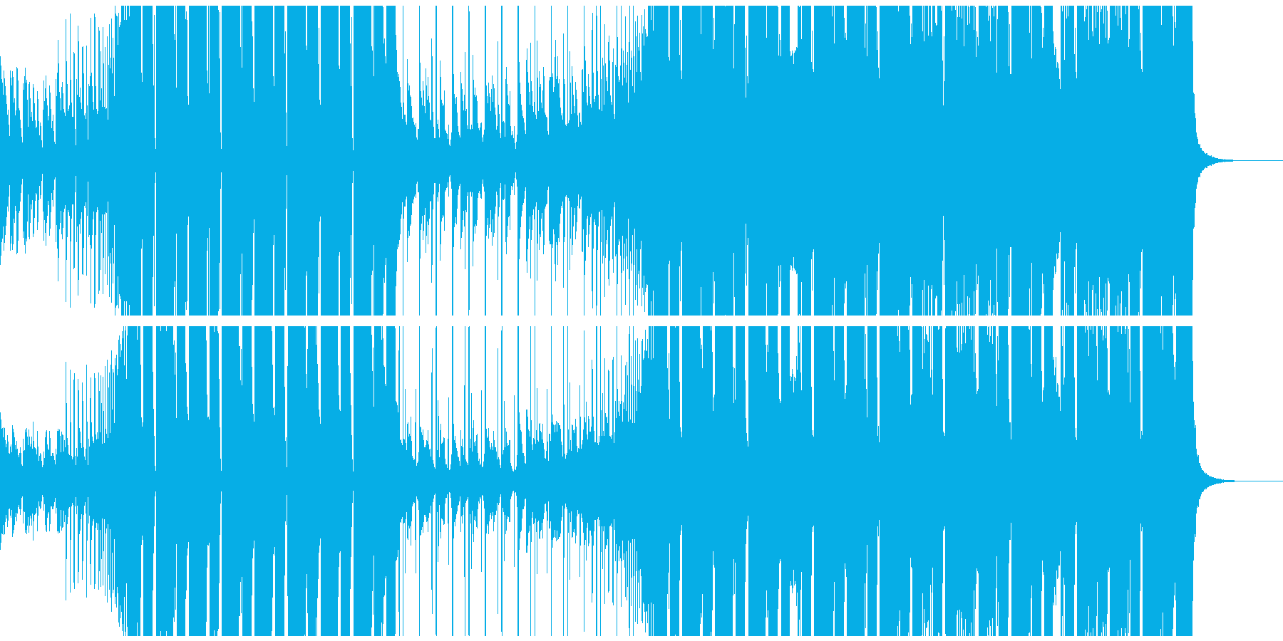 CM・VP スタイリッシュなEDM 声無の再生済みの波形