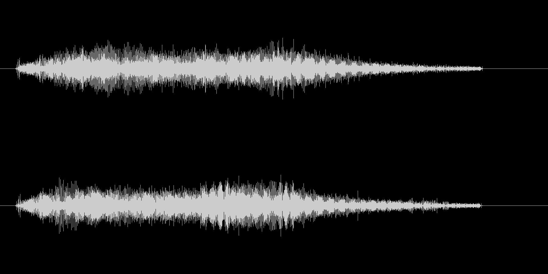 宇宙人光線ビーム音キュイーンビュイーンの未再生の波形