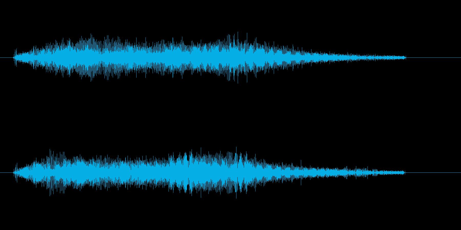 宇宙人光線ビーム音キュイーンビュイーンの再生済みの波形