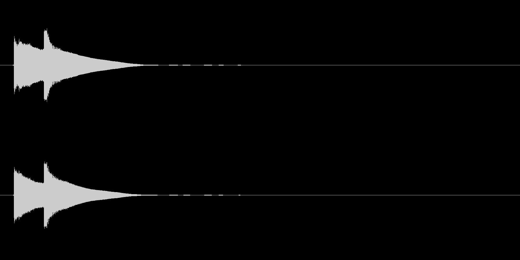 【ひらめき01-2】の未再生の波形