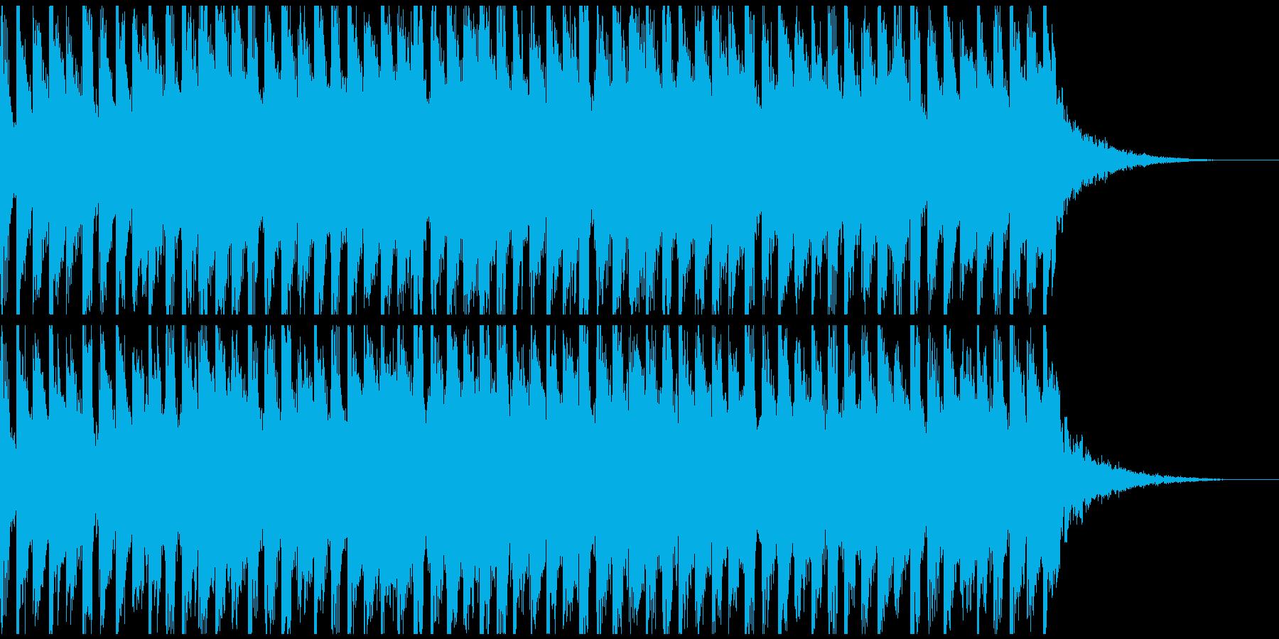 近未来系ゲームCM、予告映像、4つ打ちの再生済みの波形