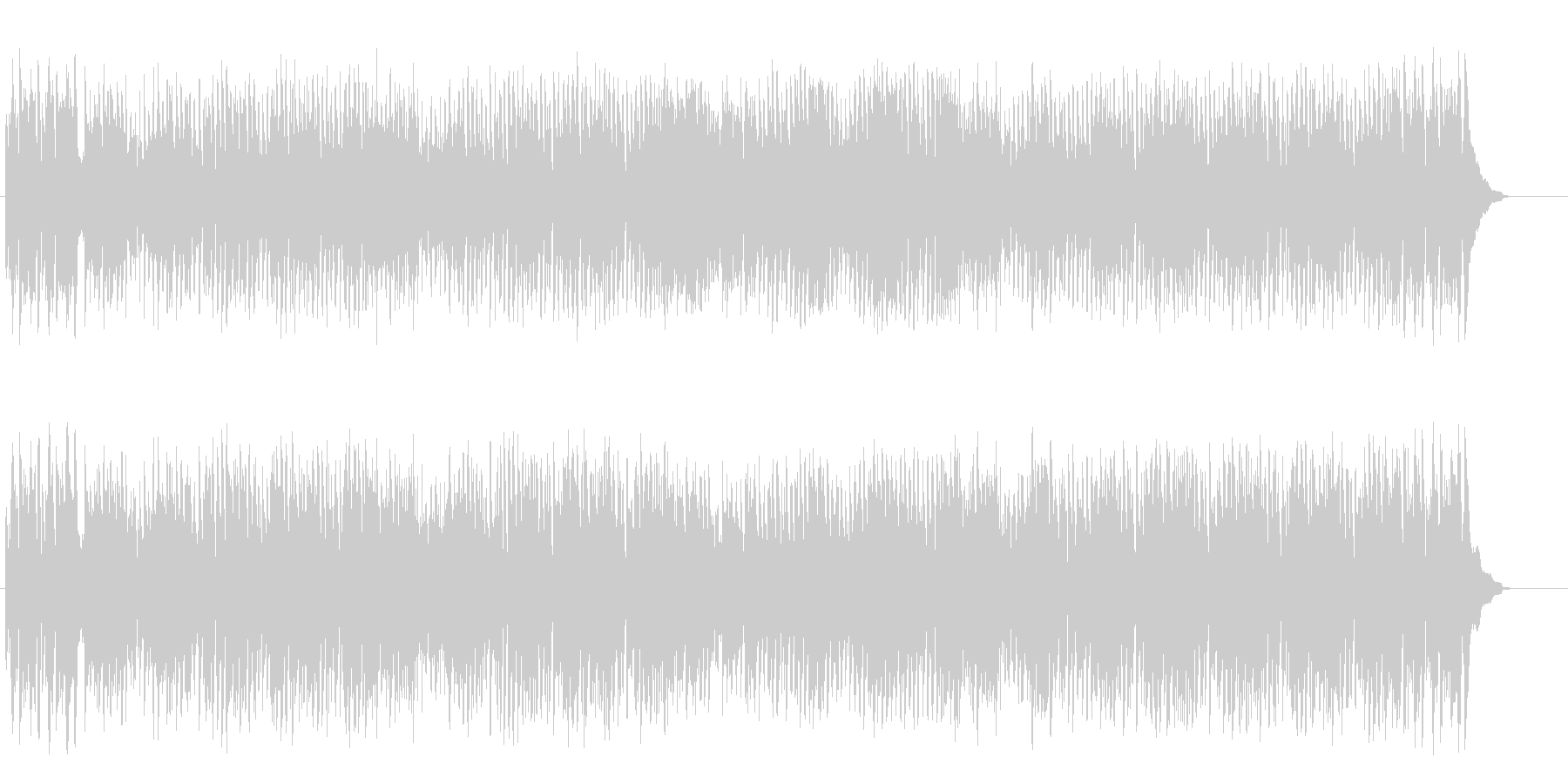 陽気な大人の4ビート・ジャズ・シャッフルの未再生の波形