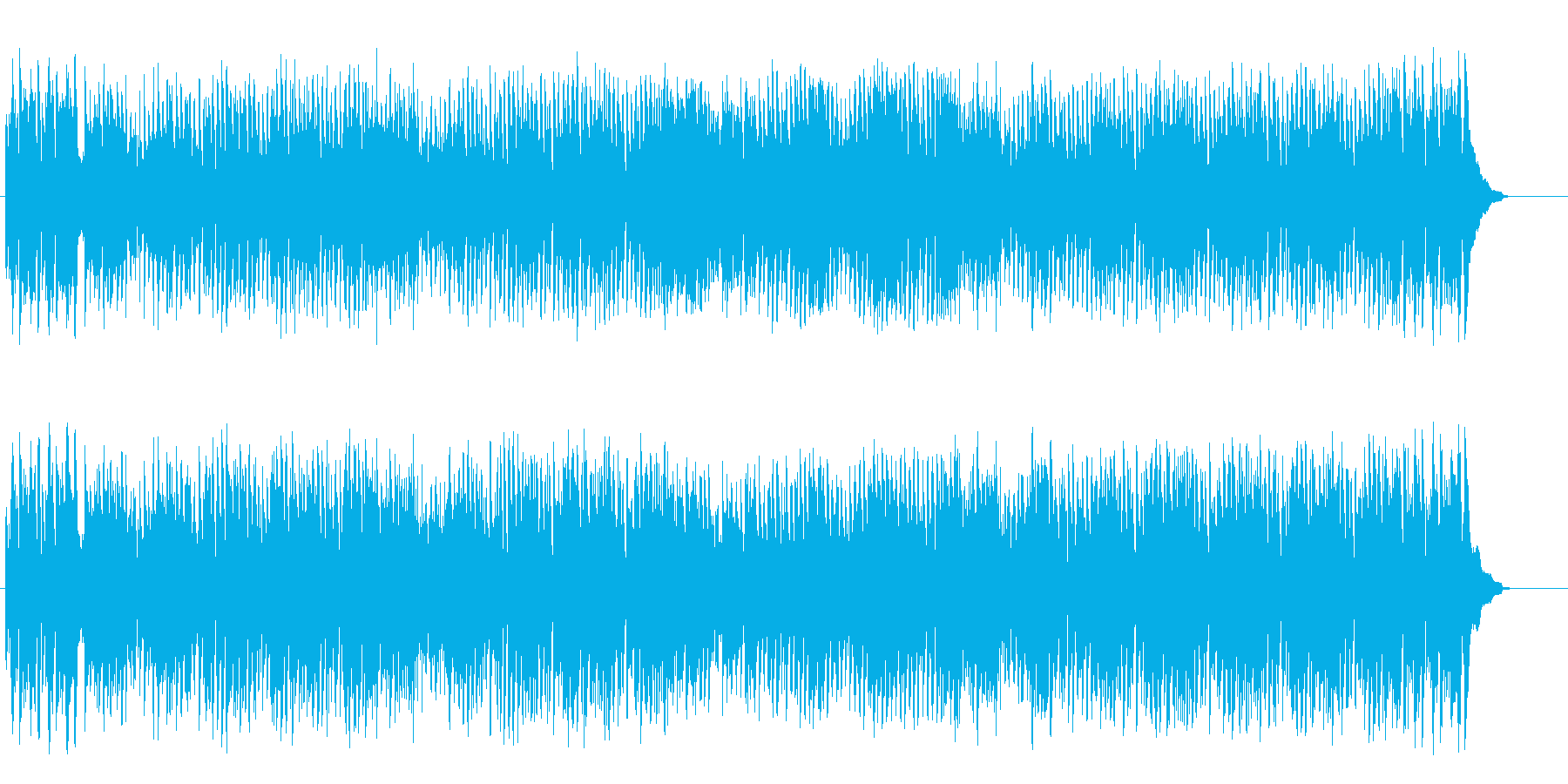 陽気な大人の4ビート・ジャズ・シャッフルの再生済みの波形