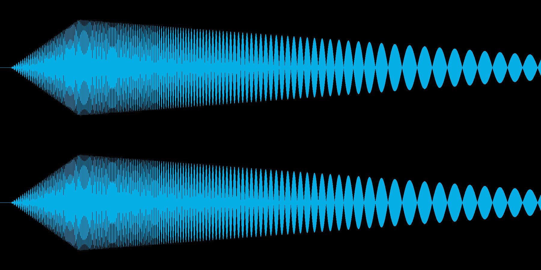 【コミカル】肉球・足音・スタンプ4の再生済みの波形
