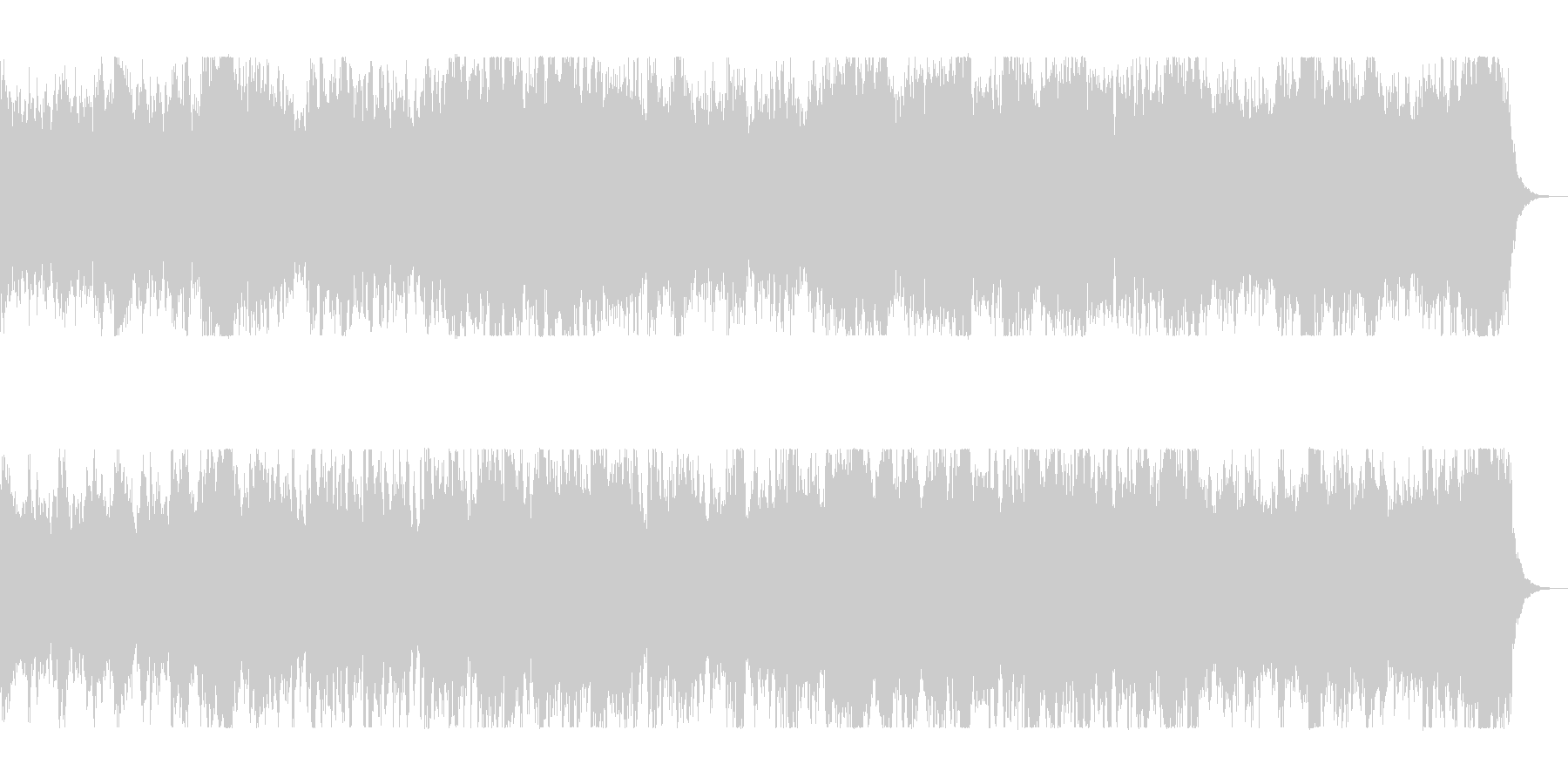 壮大でファンタジーな管弦打楽器シンセの未再生の波形