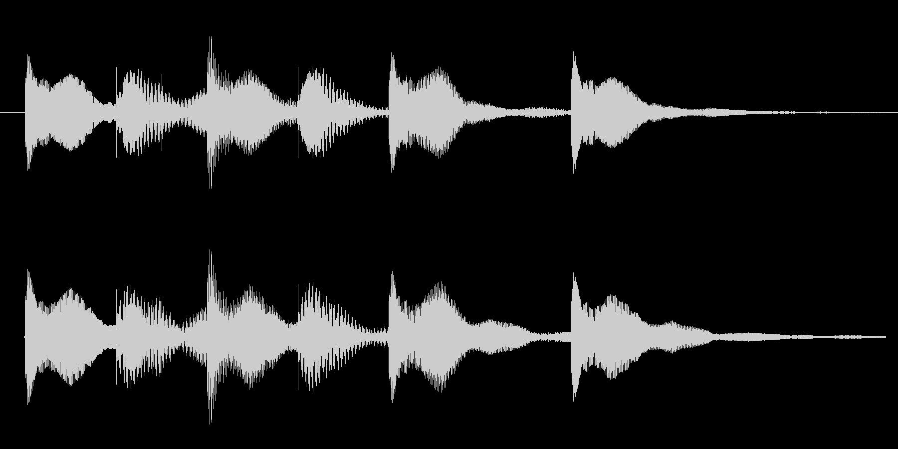 オールマイティに使える3秒サウンドロゴの未再生の波形
