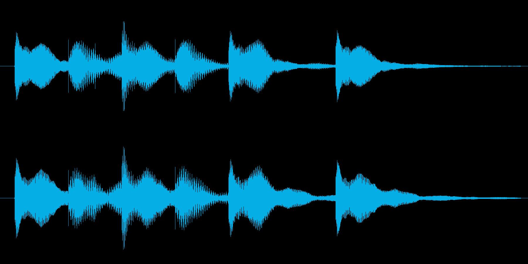 オールマイティに使える3秒サウンドロゴの再生済みの波形