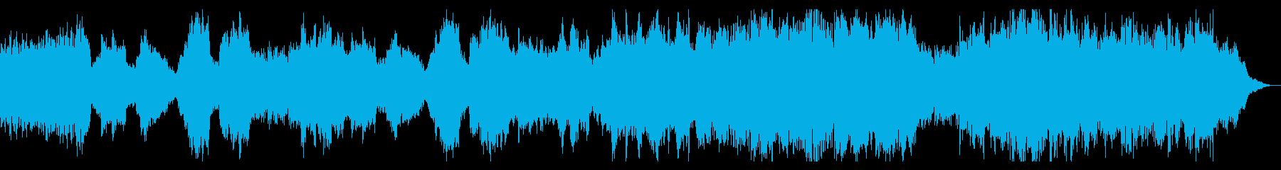 ミステリアスなピアノが特徴的な暗いBGMの再生済みの波形