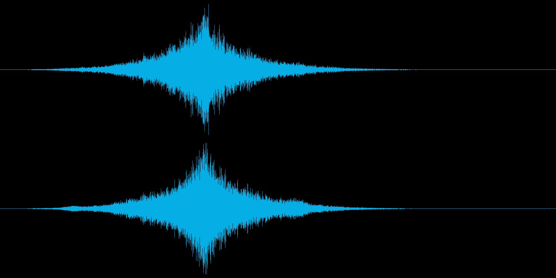 宇宙船・飛翔体通過 中央ゆっくりの再生済みの波形