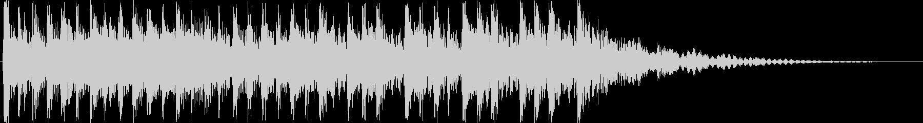 和楽器のアップテンポジングルの未再生の波形