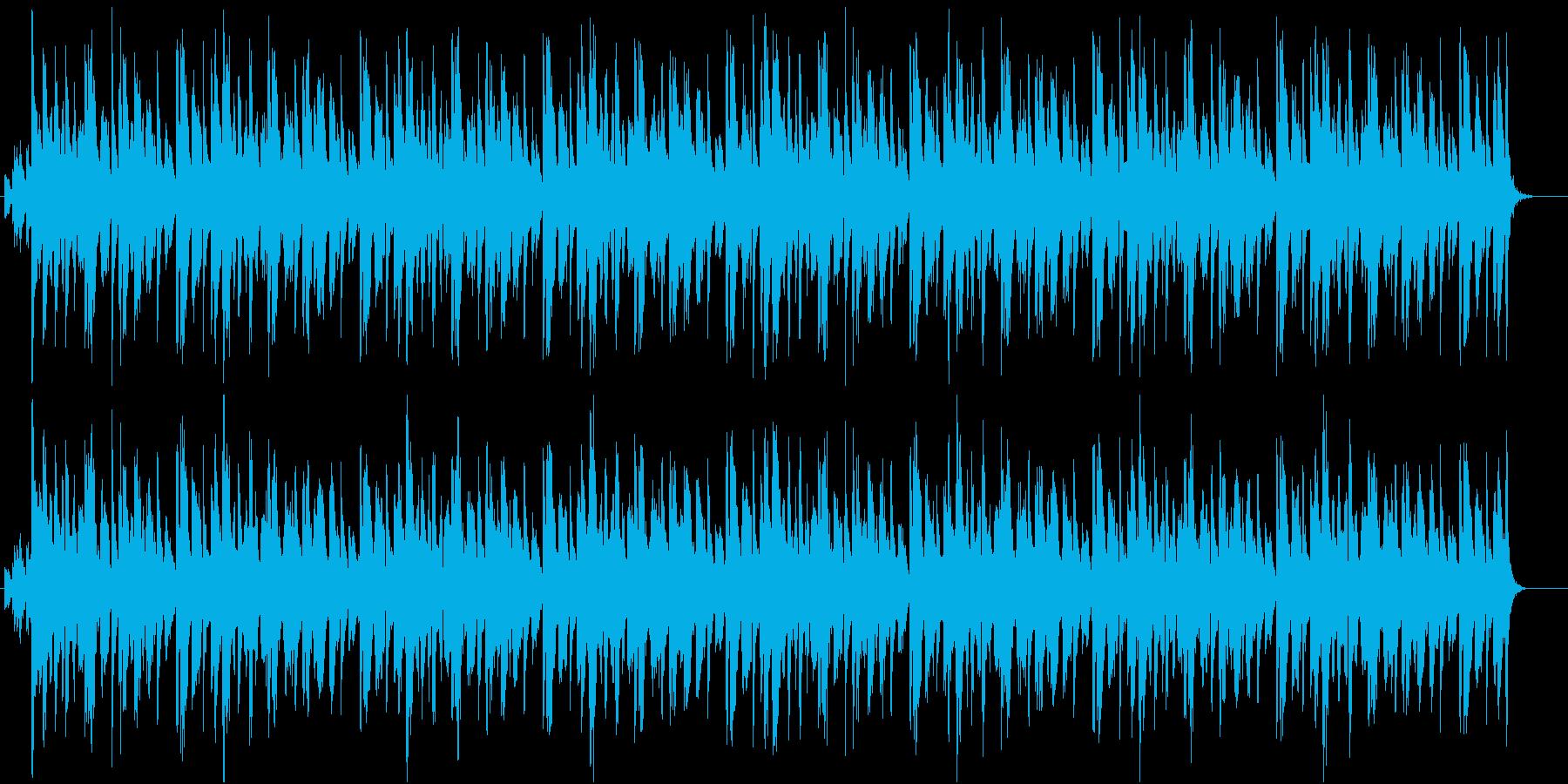 常夏の海辺に最適、カリビアンなレゲエ調曲の再生済みの波形