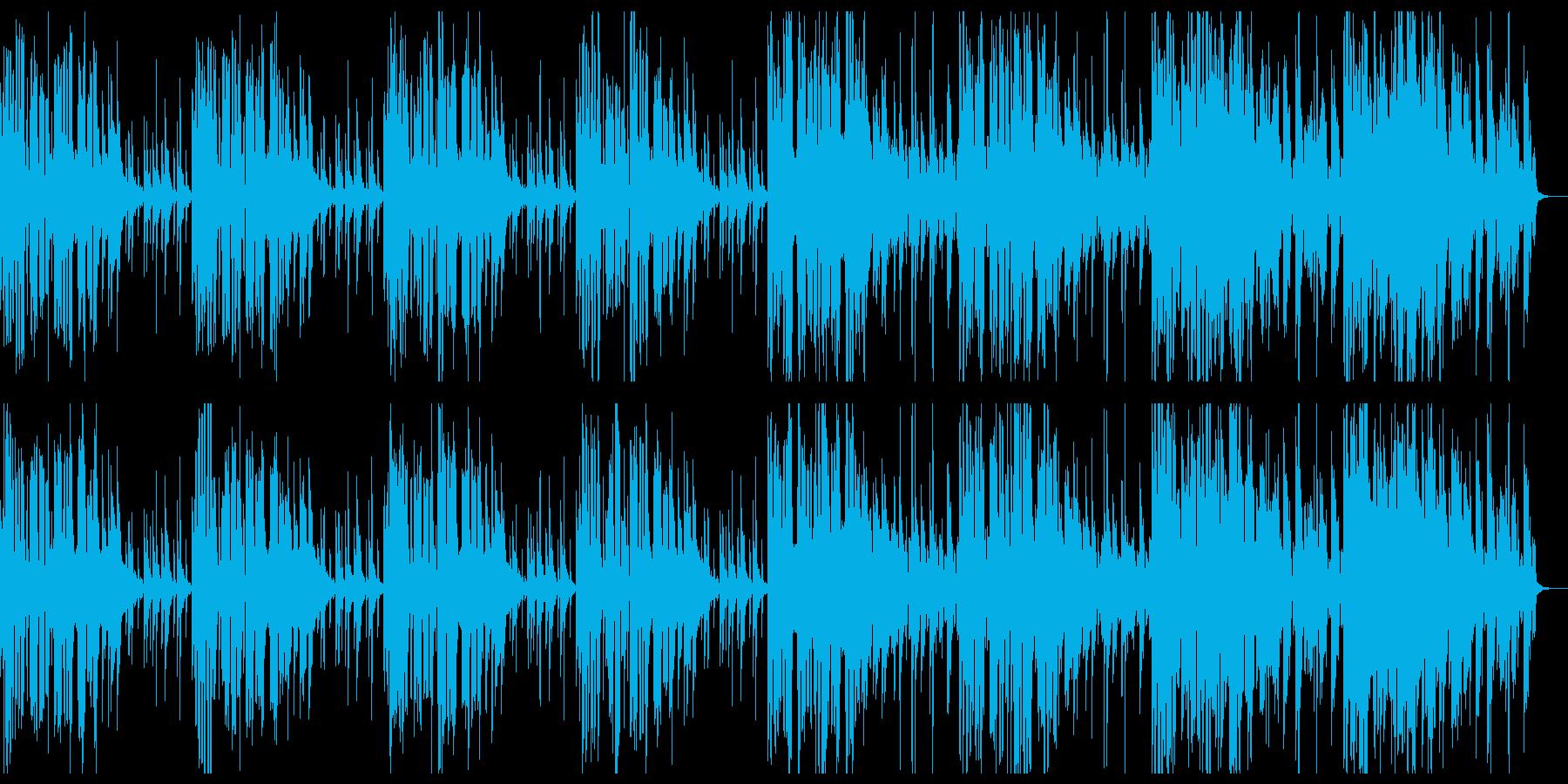 切迫した雰囲気をクールに表現するEDMの再生済みの波形