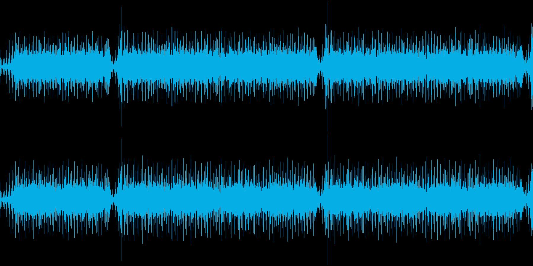 学生の研究課題のアニメーションのBGM…の再生済みの波形
