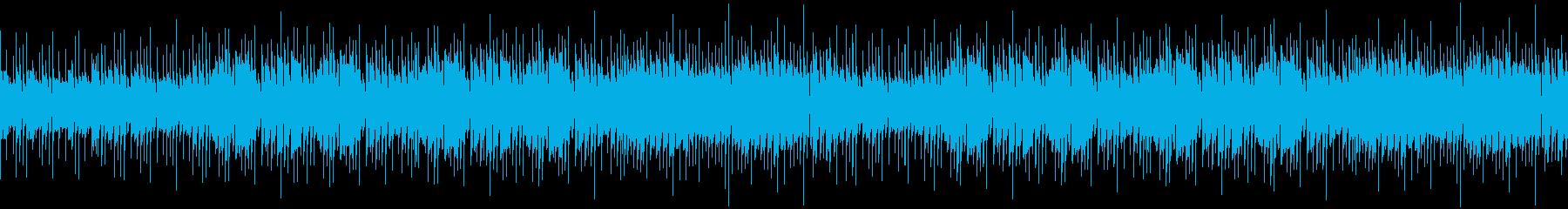 活気のあるエレキのアルペジオの再生済みの波形