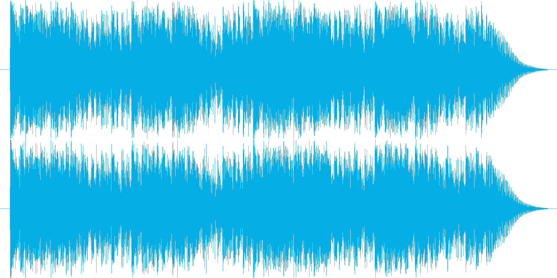 沖縄風で祭囃子のようなBGMの再生済みの波形