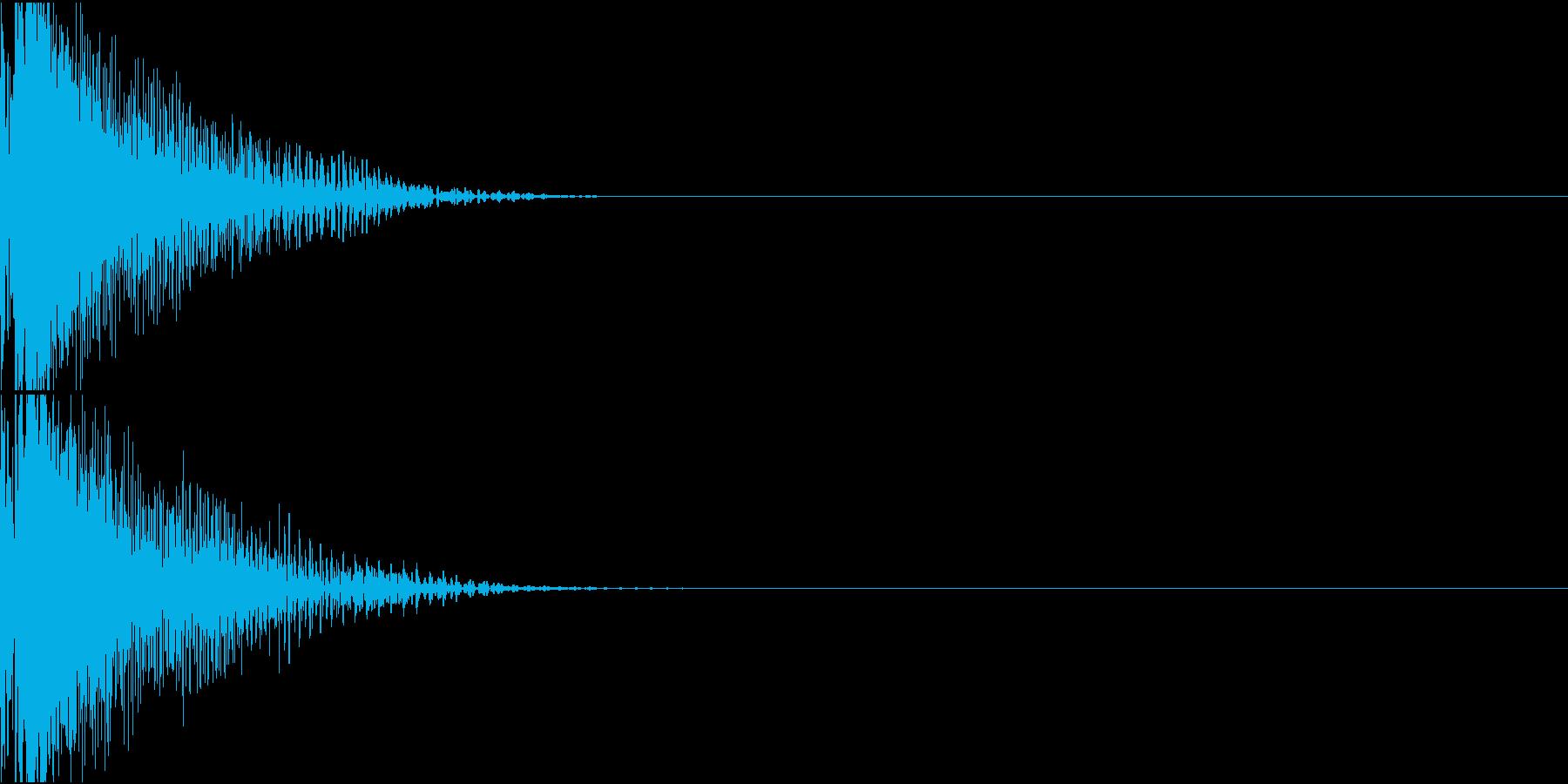 LaserGun レーザーガン 銃撃音の再生済みの波形