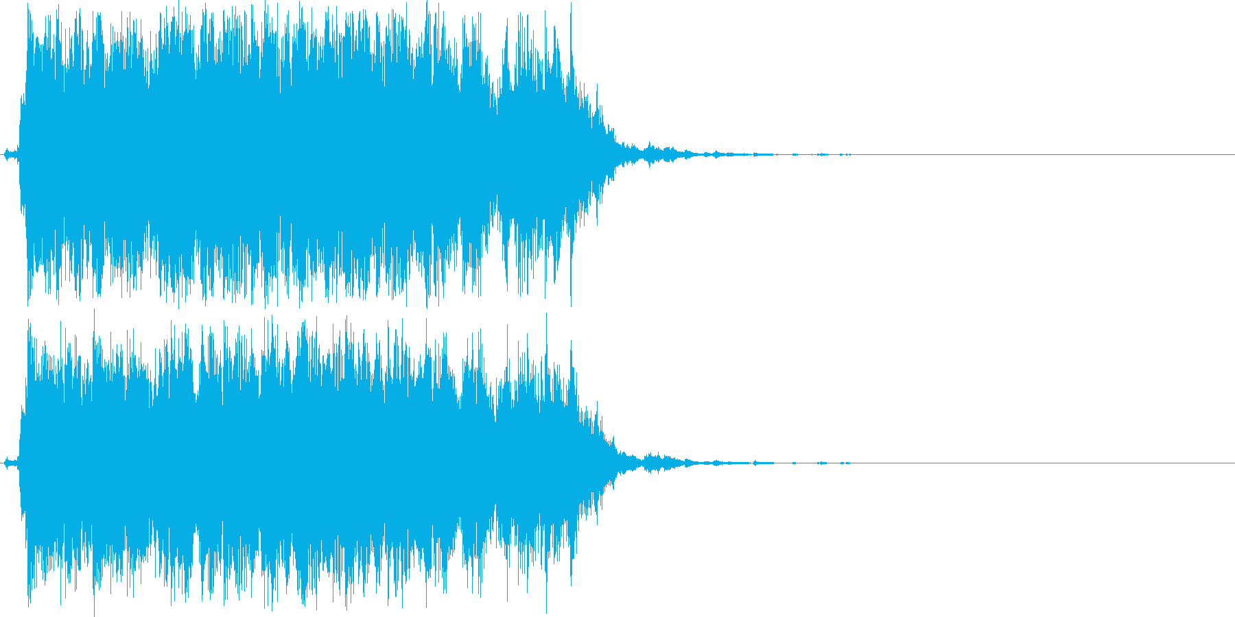 ジャラジャラジャラ(鈴、長め、初詣)の再生済みの波形