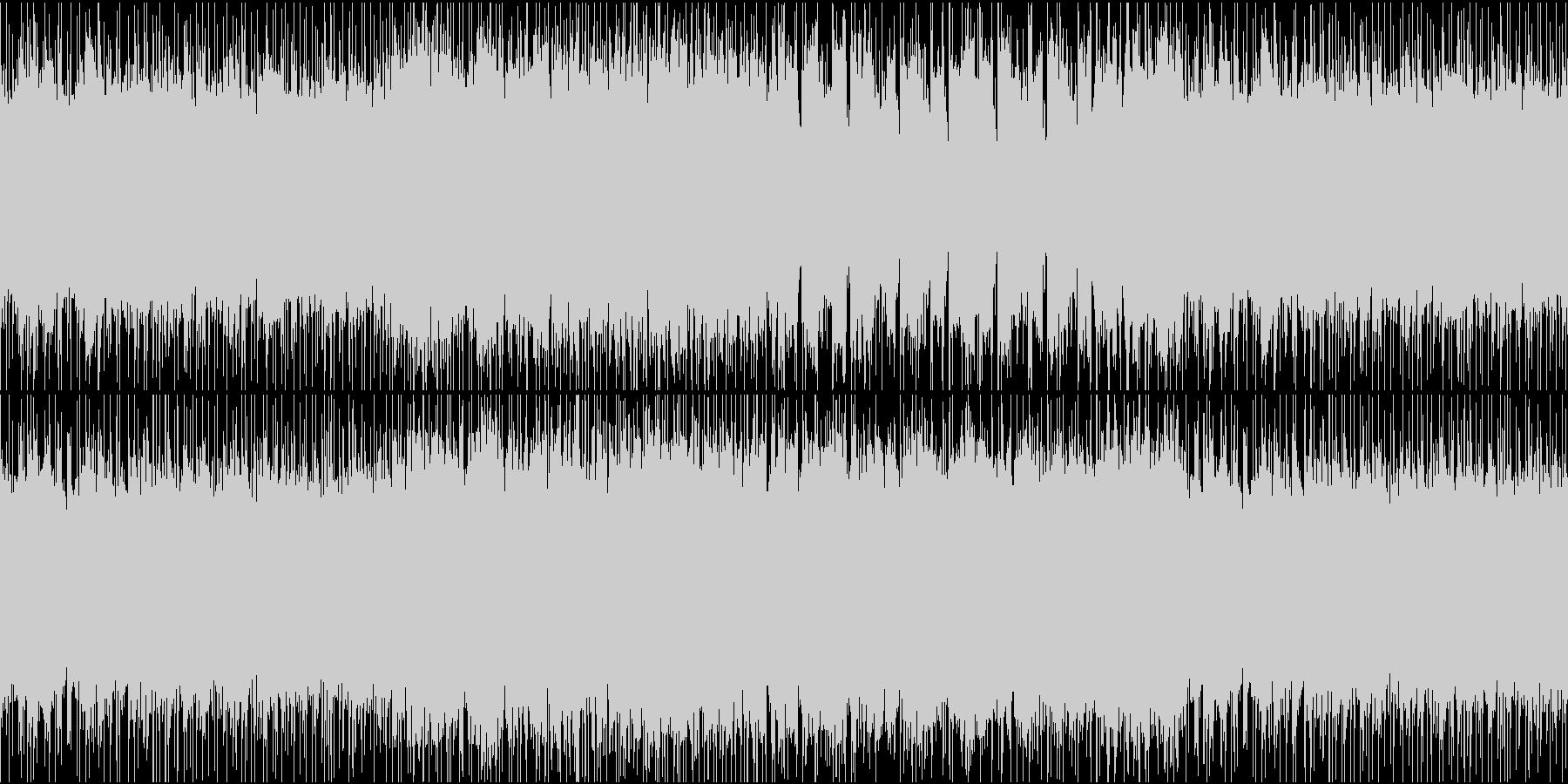 少しあやしげなヘヴィロックのギターリフの未再生の波形