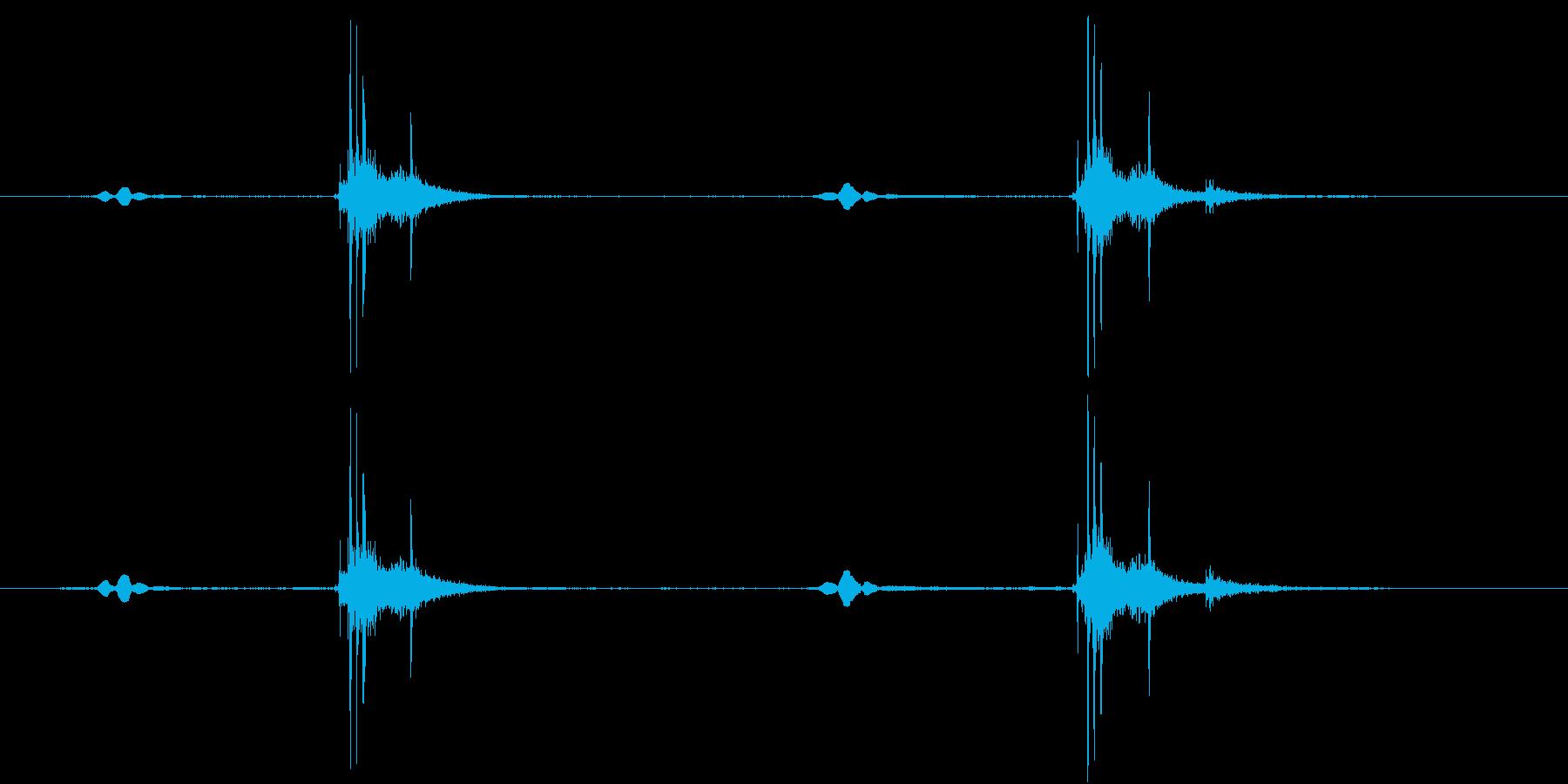 ピピッ、カシャッの再生済みの波形