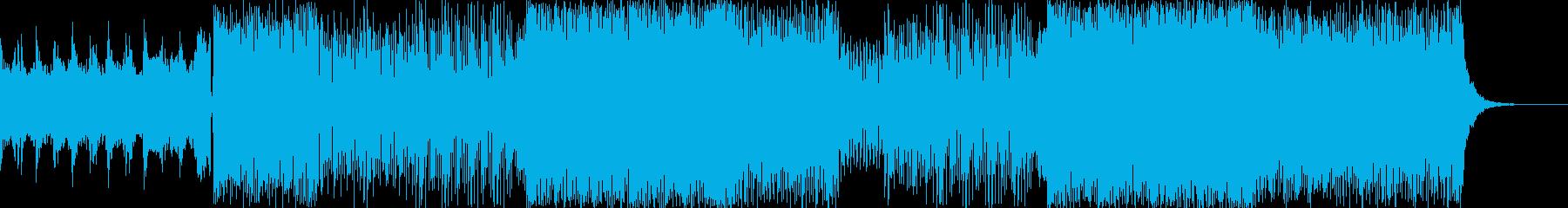 ロック テクノの壮快なサウンド。ダークの再生済みの波形