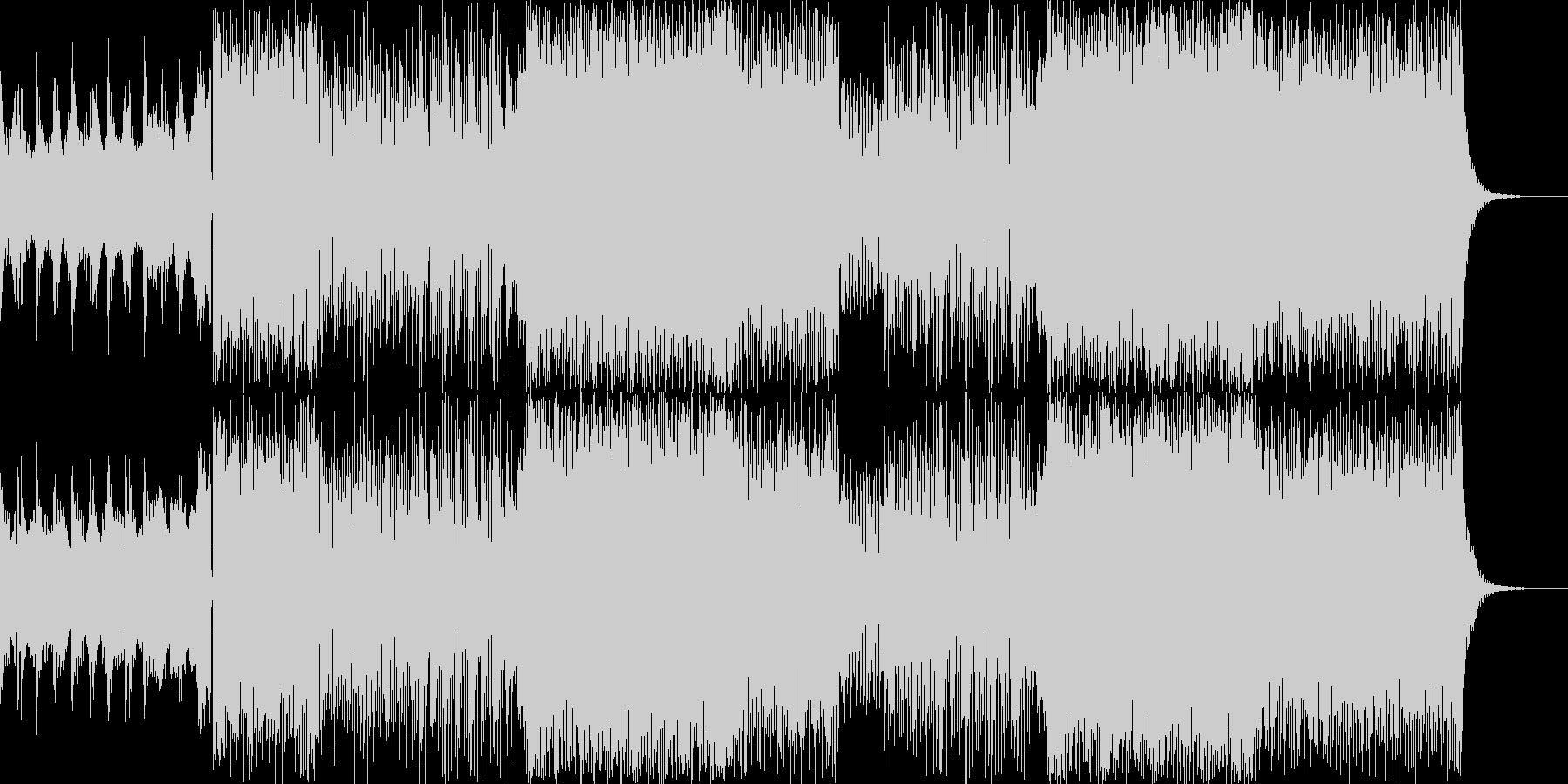 ロック テクノの壮快なサウンド。ダークの未再生の波形
