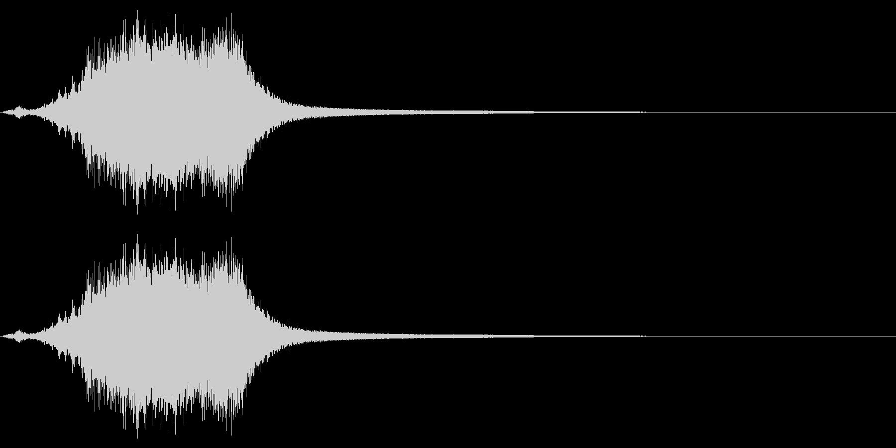 シャキーン☆剣を鞘から抜く音2の未再生の波形