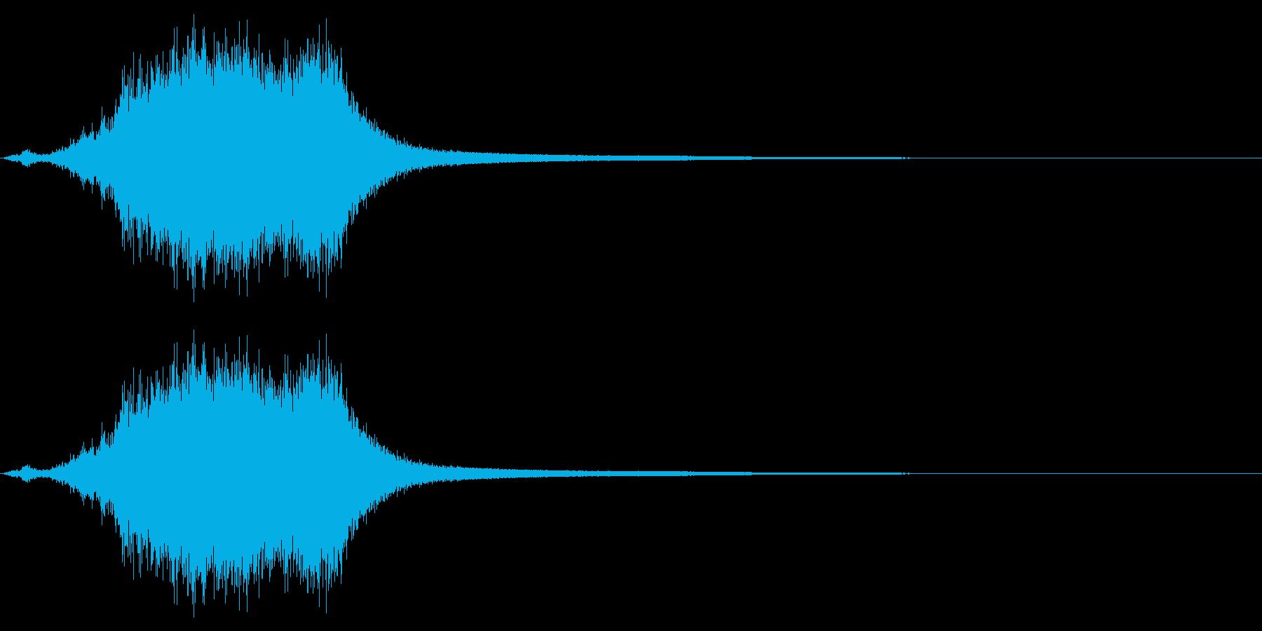 シャキーン☆剣を鞘から抜く音2の再生済みの波形