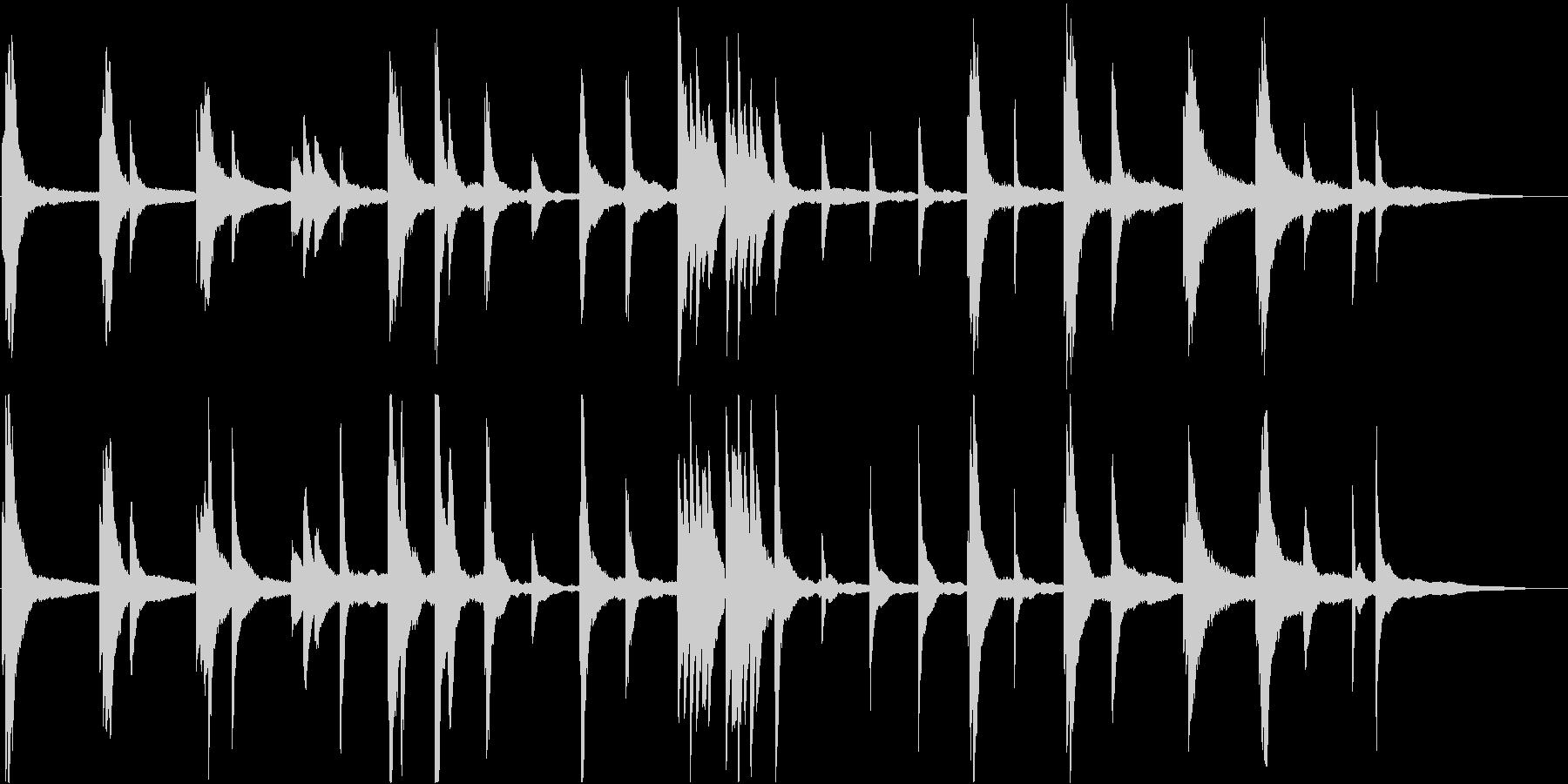 即興的な暗いピアノ・ソロ曲の未再生の波形