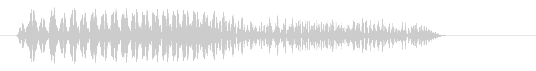 ポヨン(スライムがはねたような音)の未再生の波形