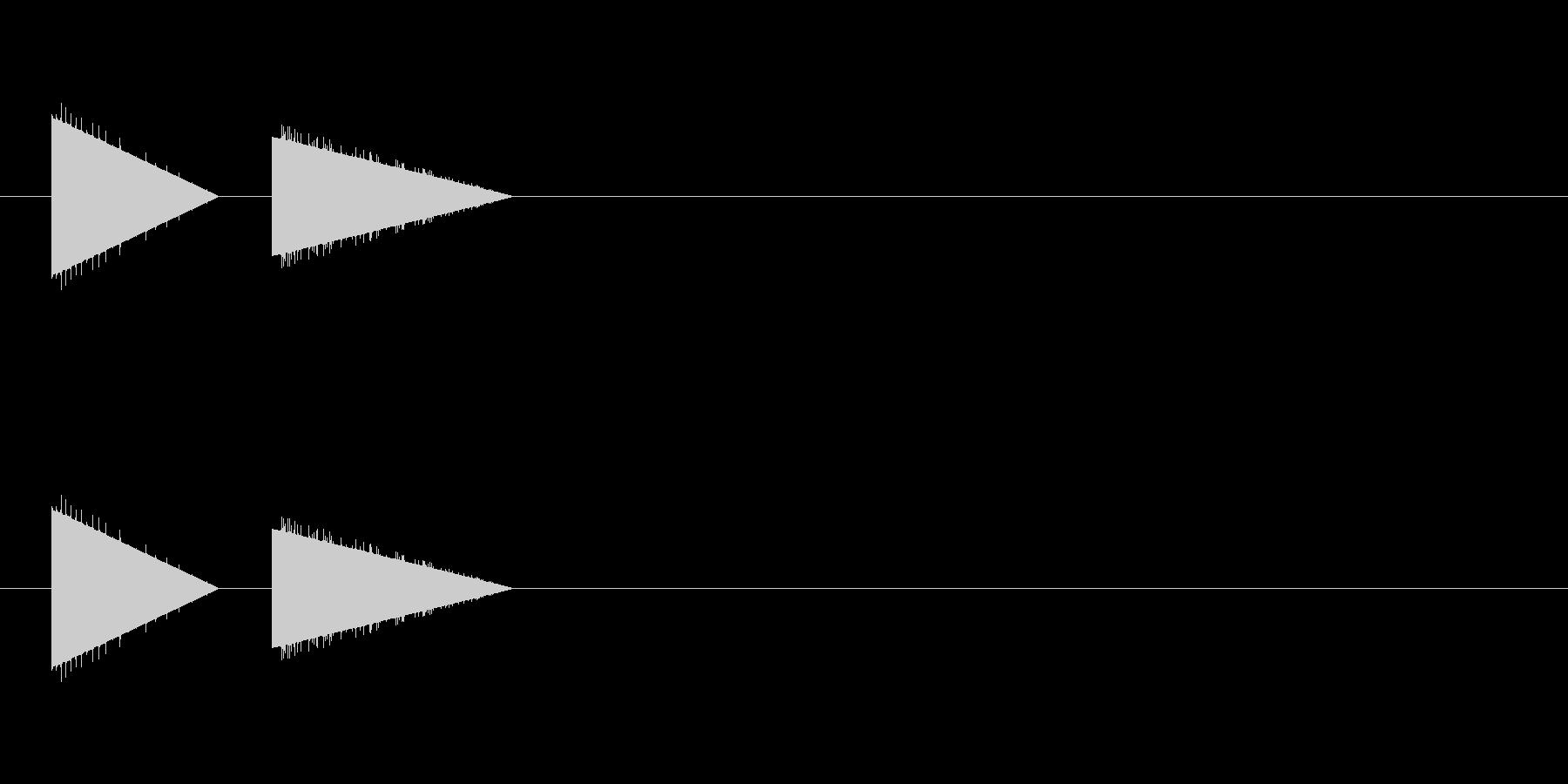 レトロゲーム風・キック#3の未再生の波形