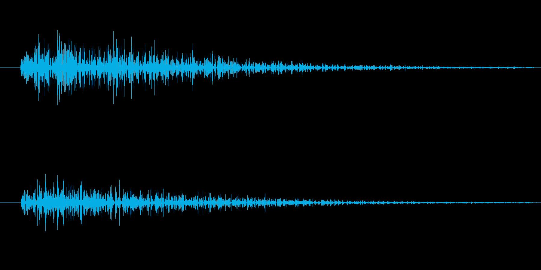 炎・爆発(ファミコン風)の再生済みの波形