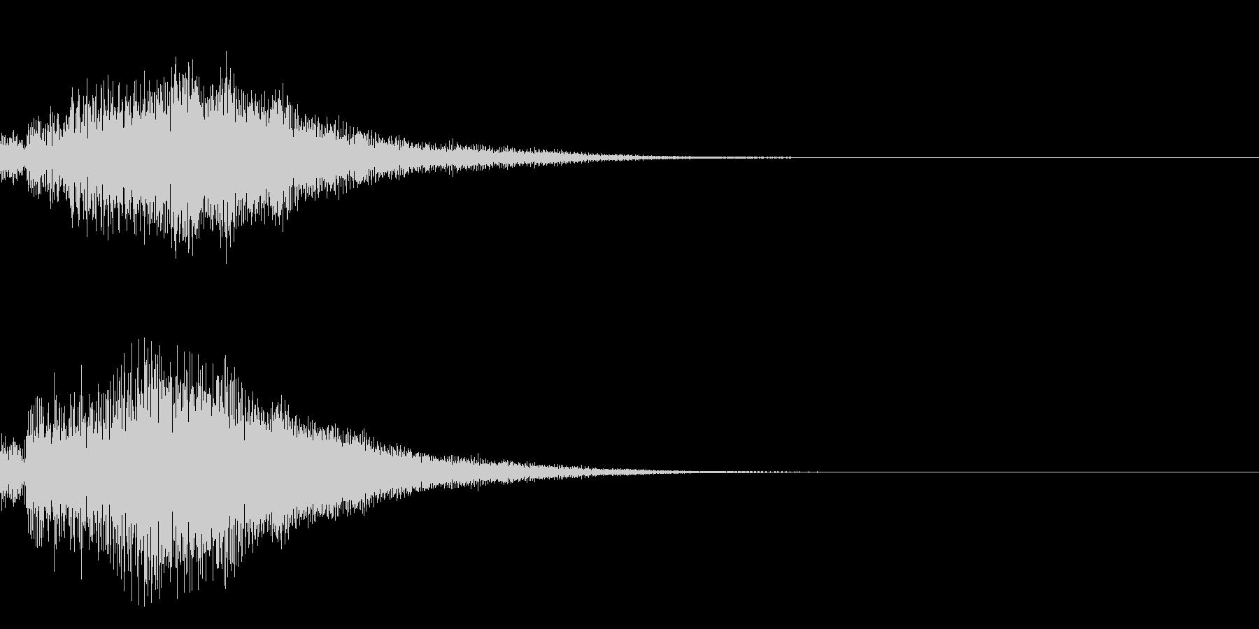 シンプルな決定音 ボタン音 正解音 19の未再生の波形