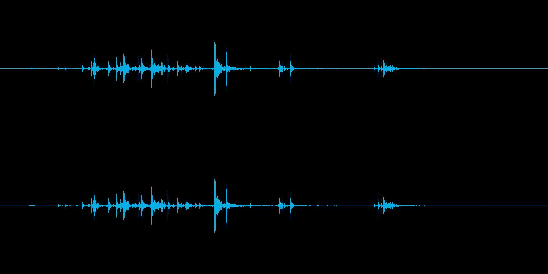 きゅうりを丸ごとかじる音の再生済みの波形
