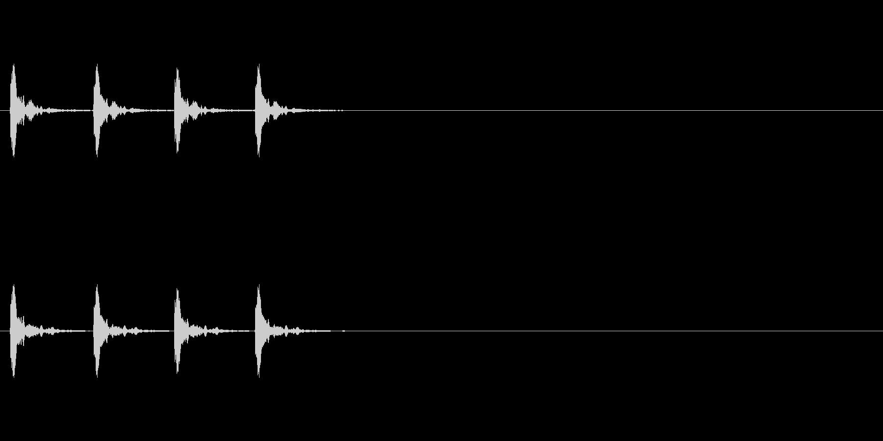 カウント音、カウベルの未再生の波形