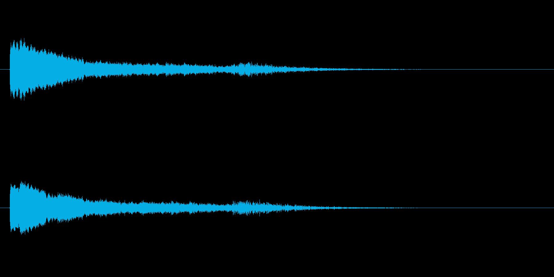 ワープする時のピュイーンやひゅーんとい…の再生済みの波形