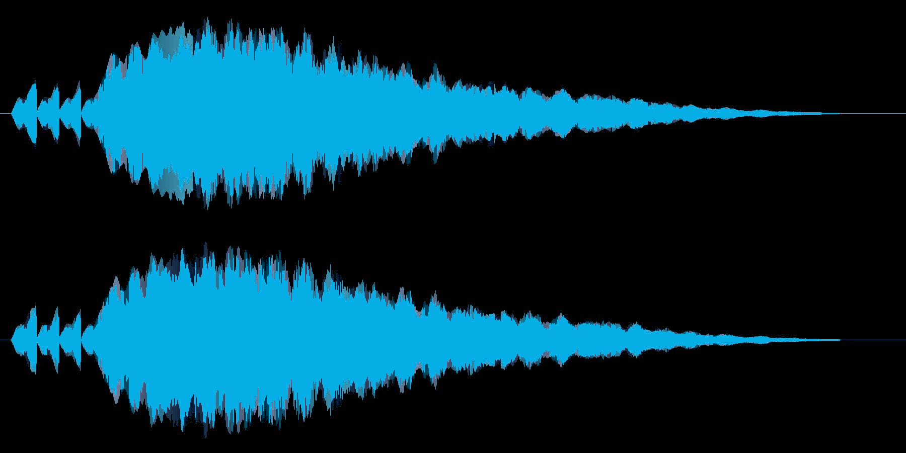 フゥフゥフゥフヮ~ン~の再生済みの波形