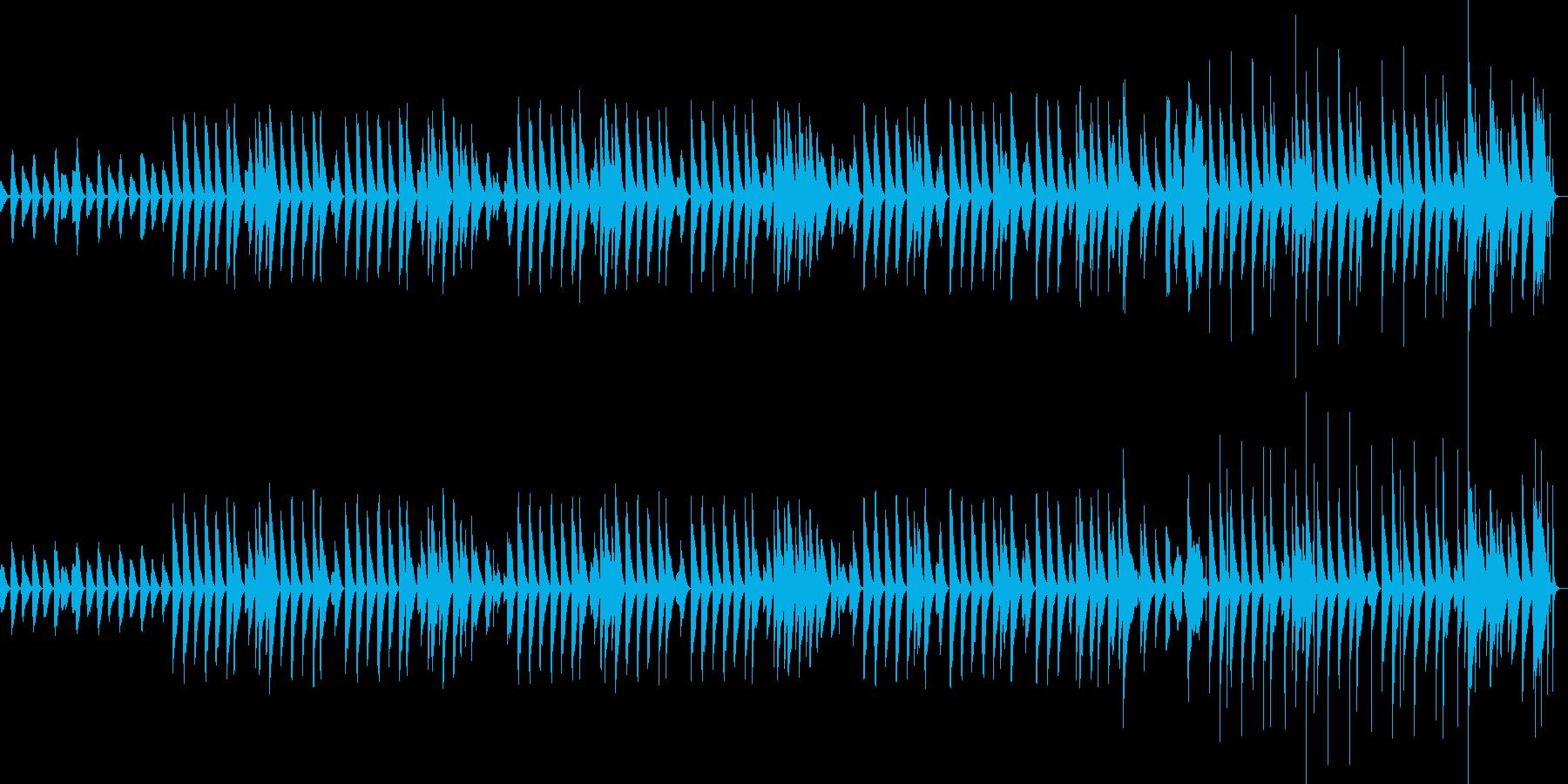 クリスマスに合うほのぼのとした木琴BGMの再生済みの波形