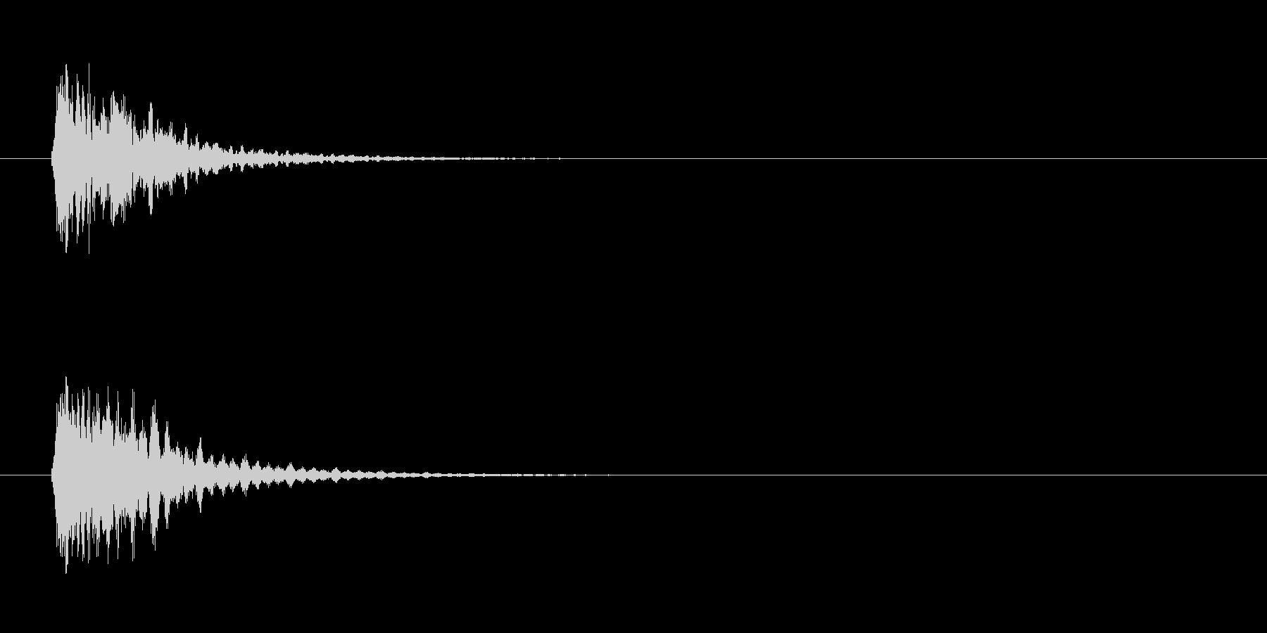 光り系の未再生の波形