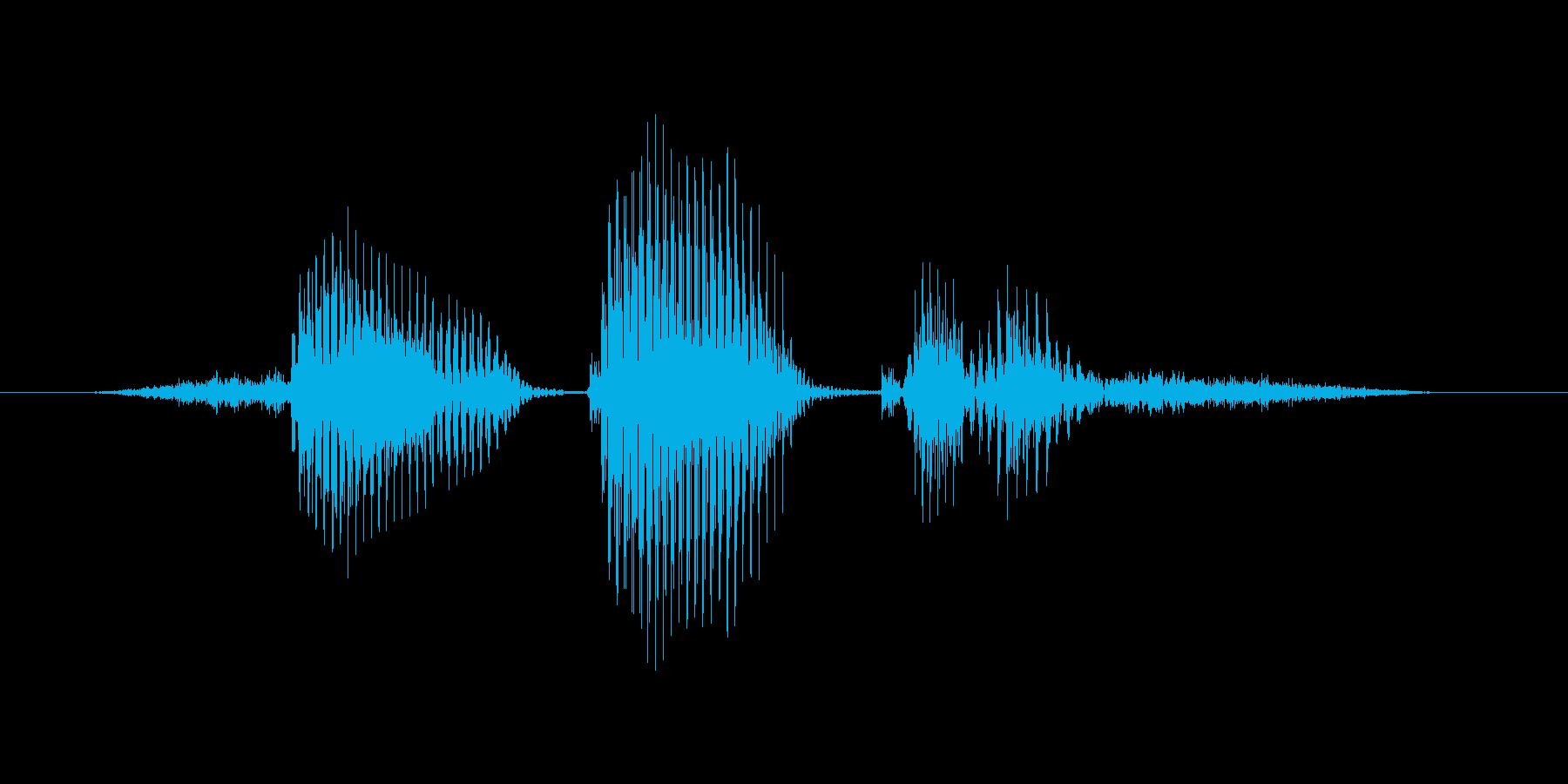 センタークロスの再生済みの波形