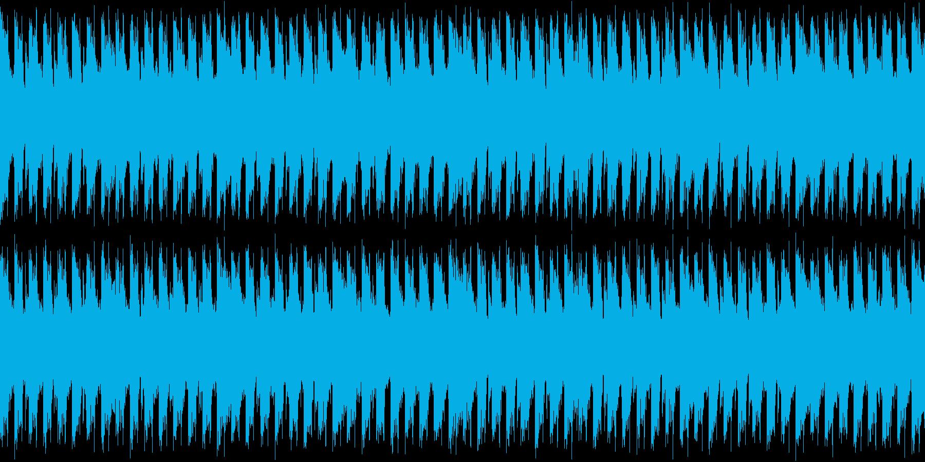 メニュー画面・ダンスループシンセの再生済みの波形