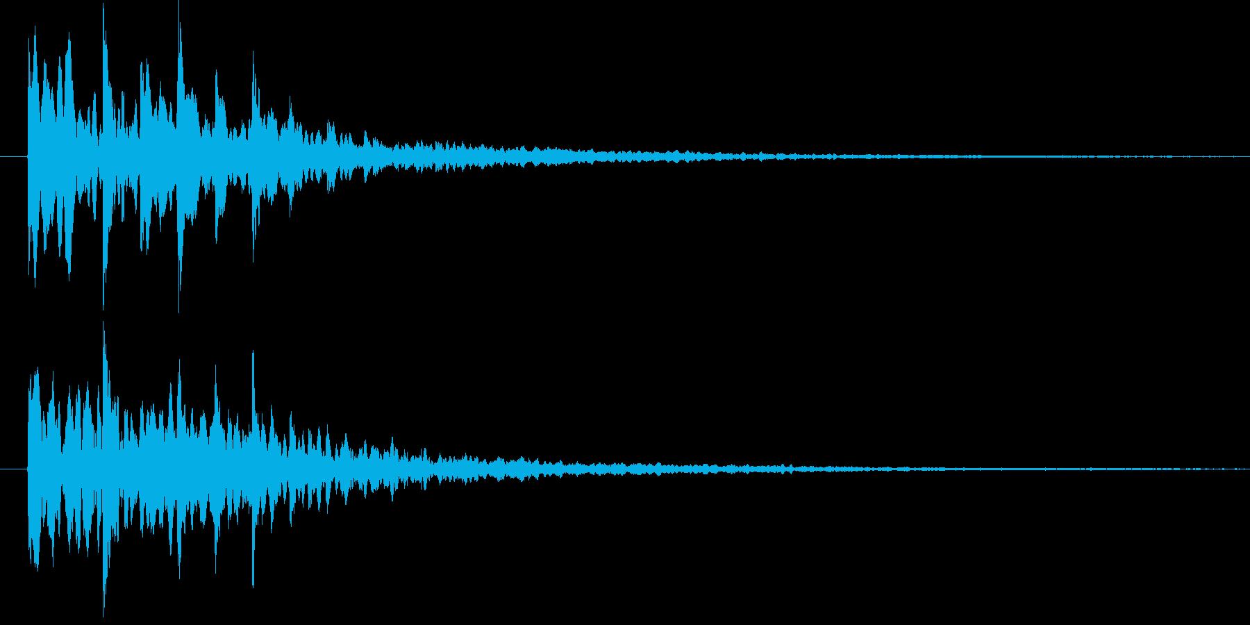 シンセ系電子音の再生済みの波形