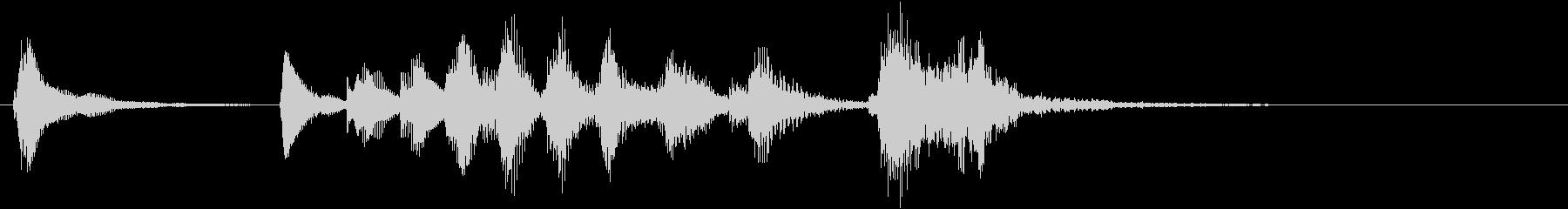 トムとジェリー風なアニメ音楽「忍び足」7の未再生の波形