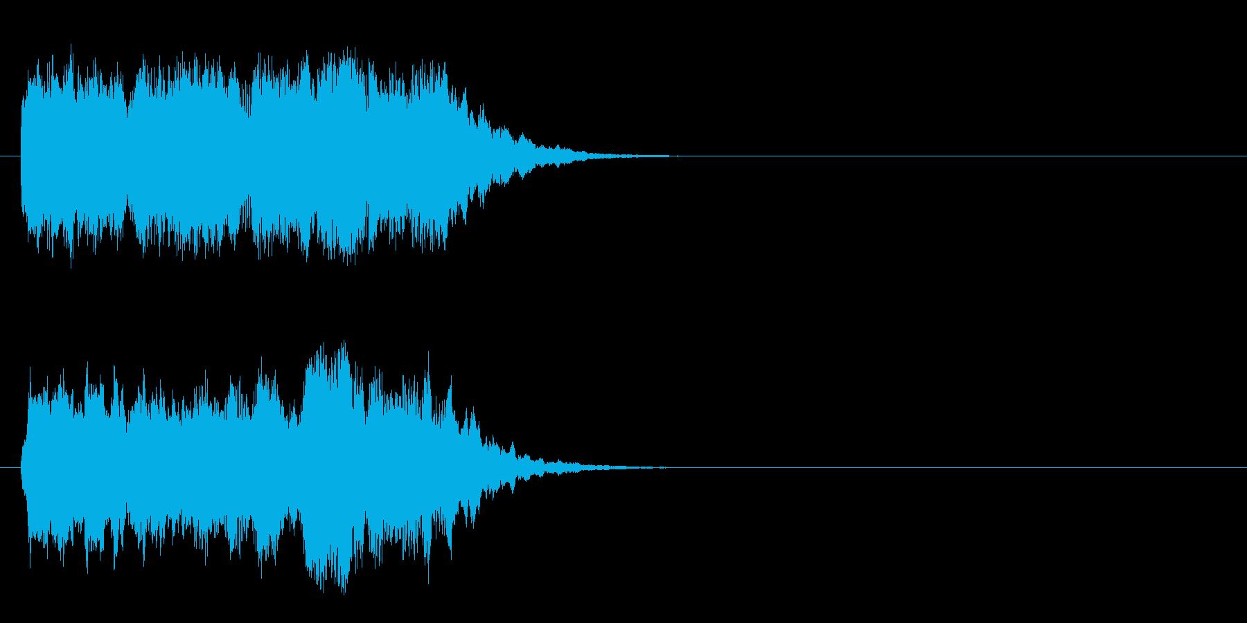 コーナー・エンド風ブライダルのジングルの再生済みの波形