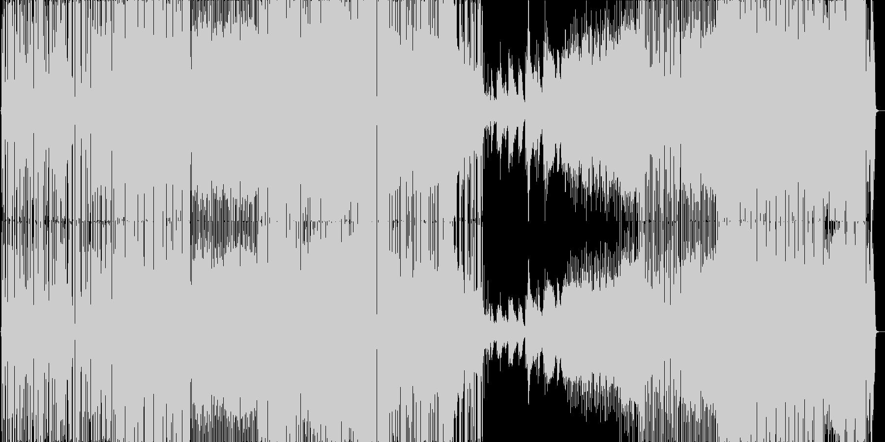 ギターのリズムがカッコいいダンサブルな曲の未再生の波形