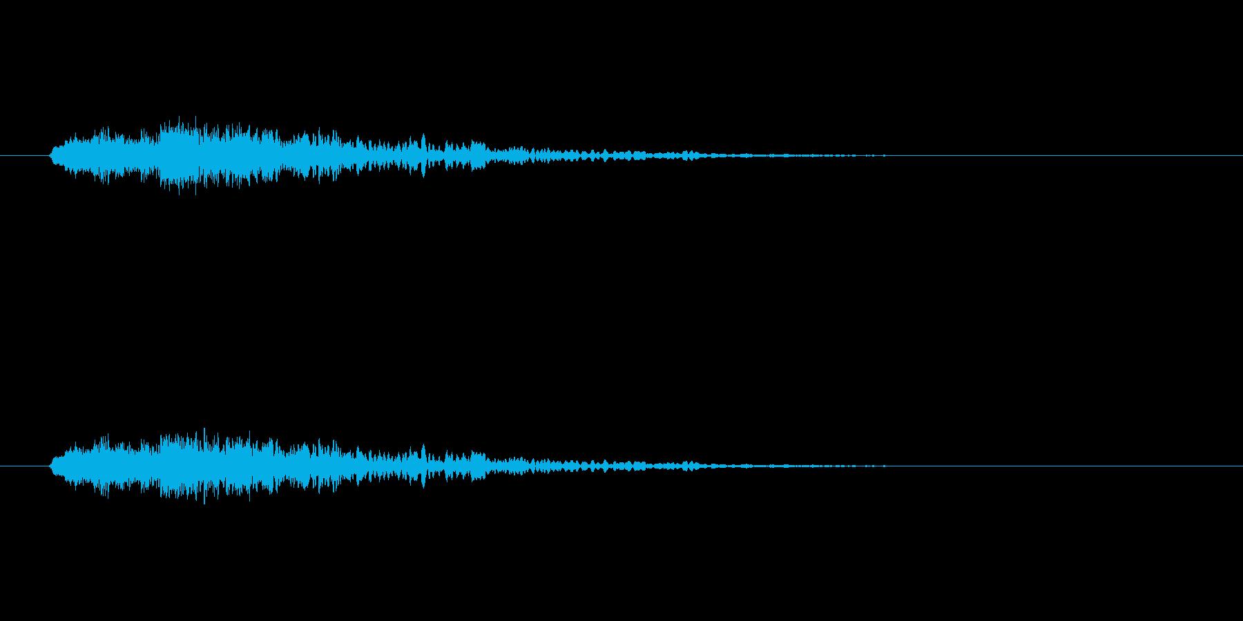 【アクセント30-1】の再生済みの波形