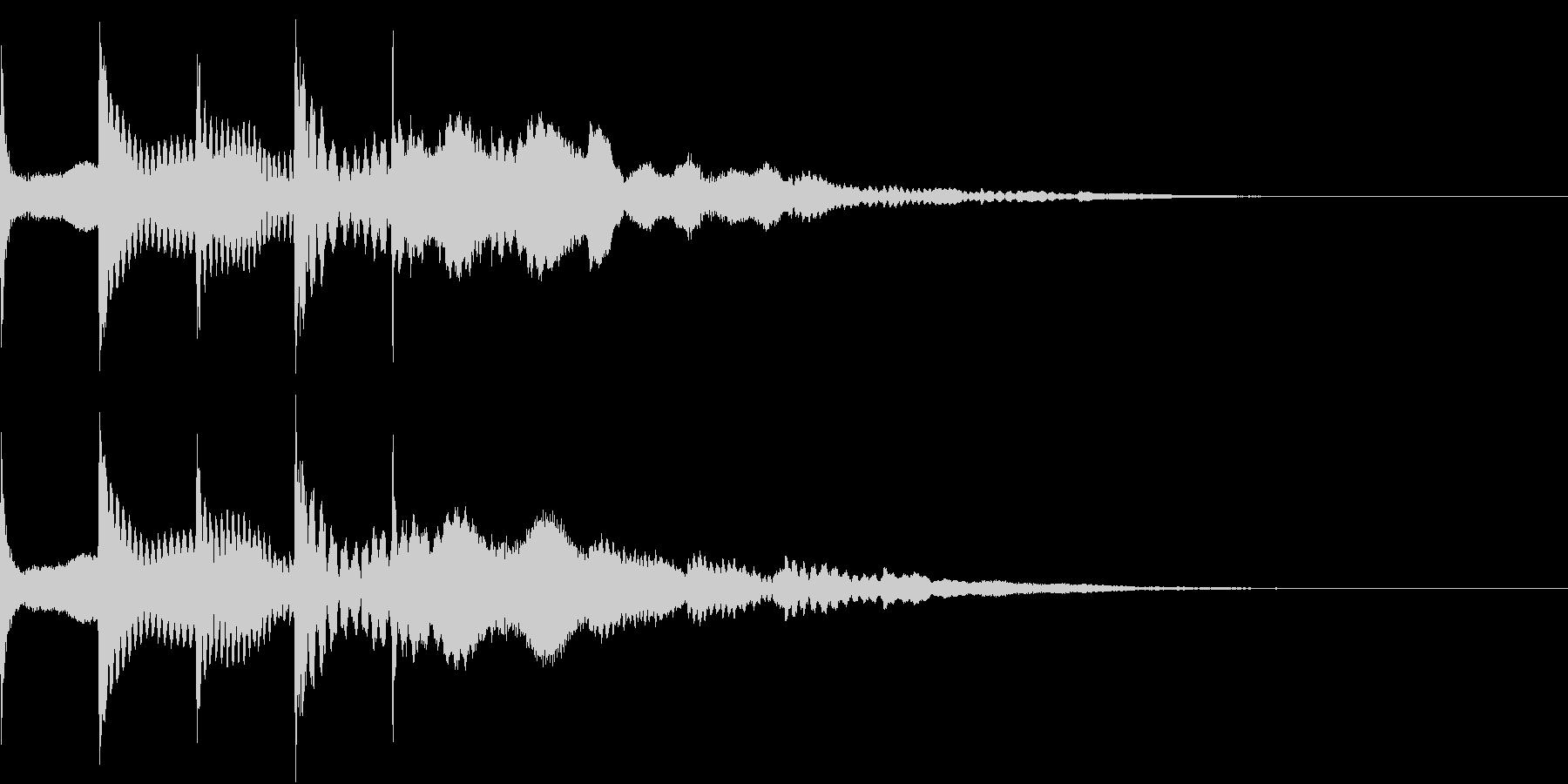ゆっくり 現れる キラキラ 煌めき 2の未再生の波形