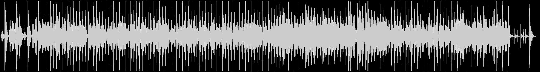 軽快なリズムのおしゃれなジャズの未再生の波形