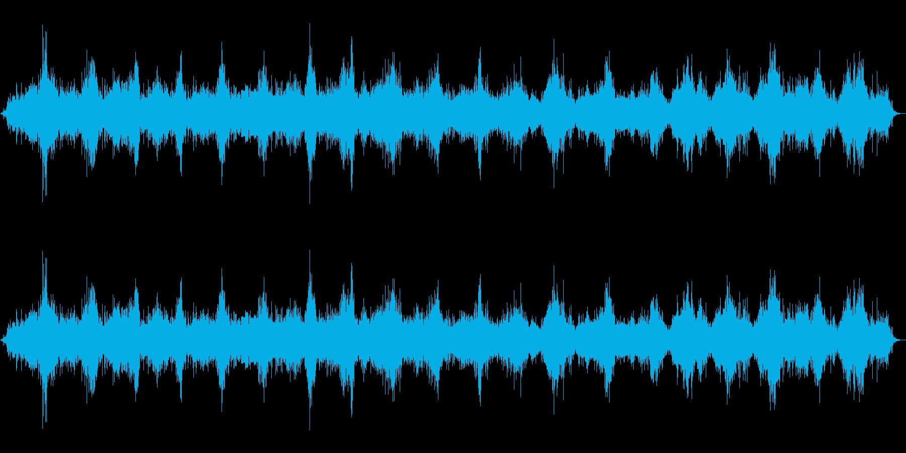 お米を研ぐ音(台所/炊事/ごはん/長め)の再生済みの波形