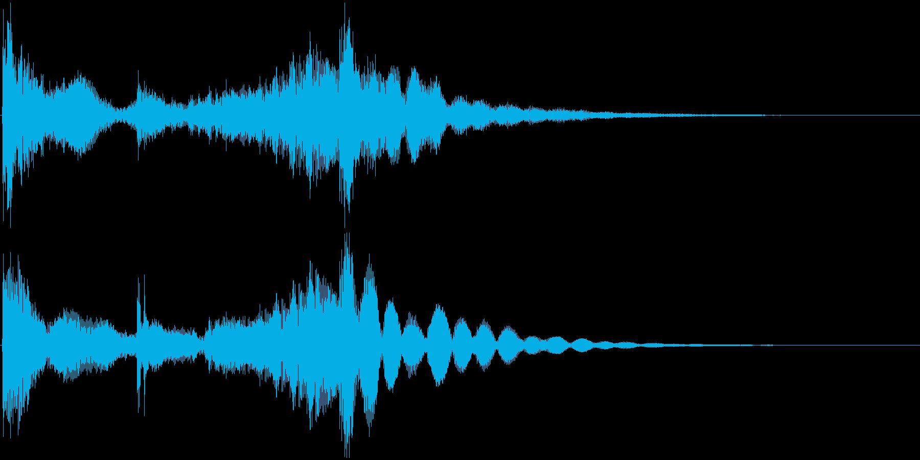 和太鼓登場ジングル1の再生済みの波形