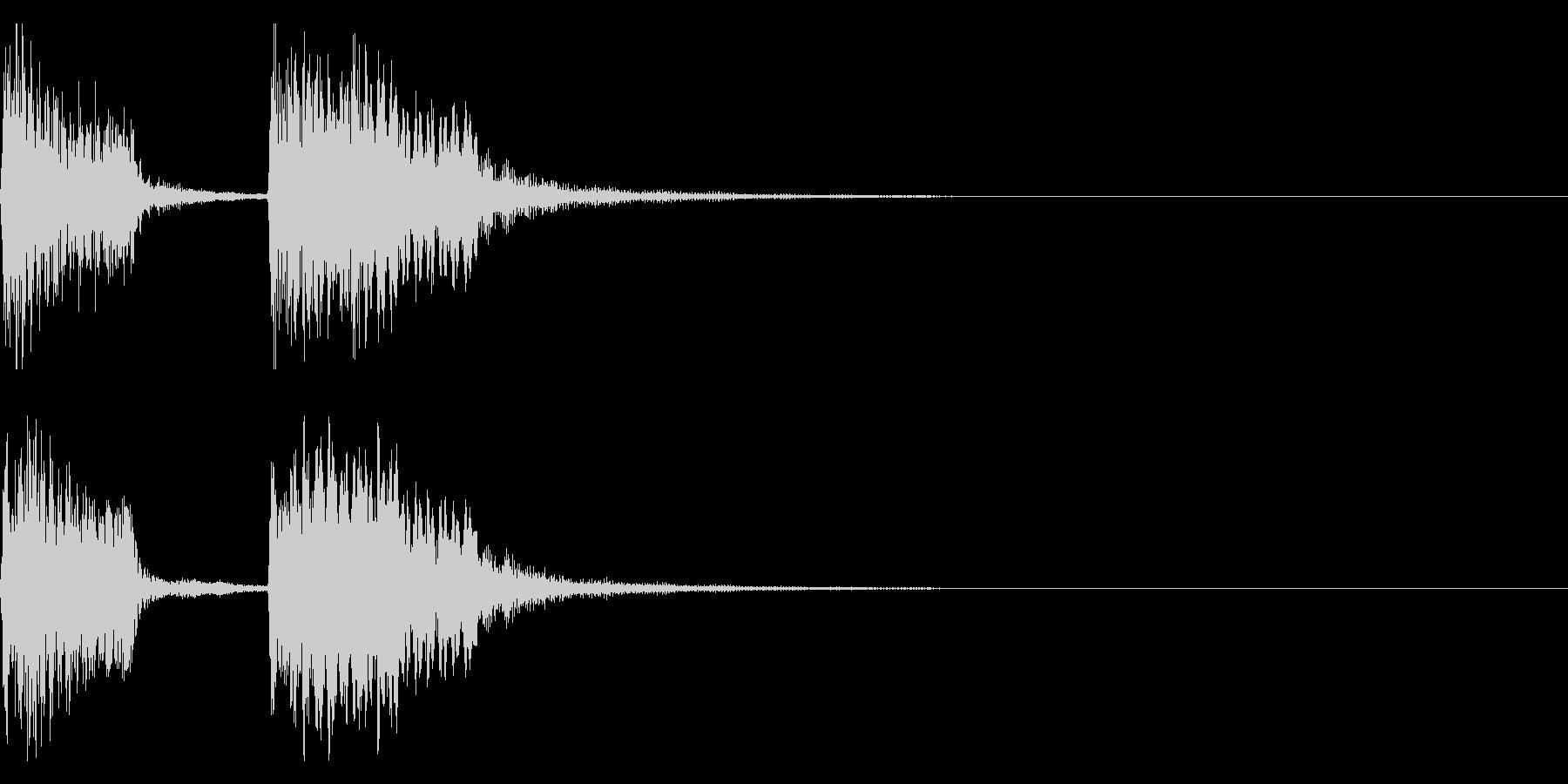 チャンチャン♪お笑いのオチ 効果音08!の未再生の波形